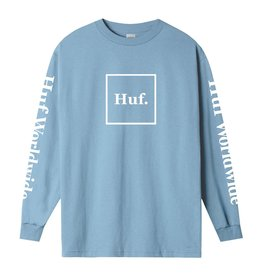 HUF HUF - ESSENTIALS L/S - LIGHT BLU -