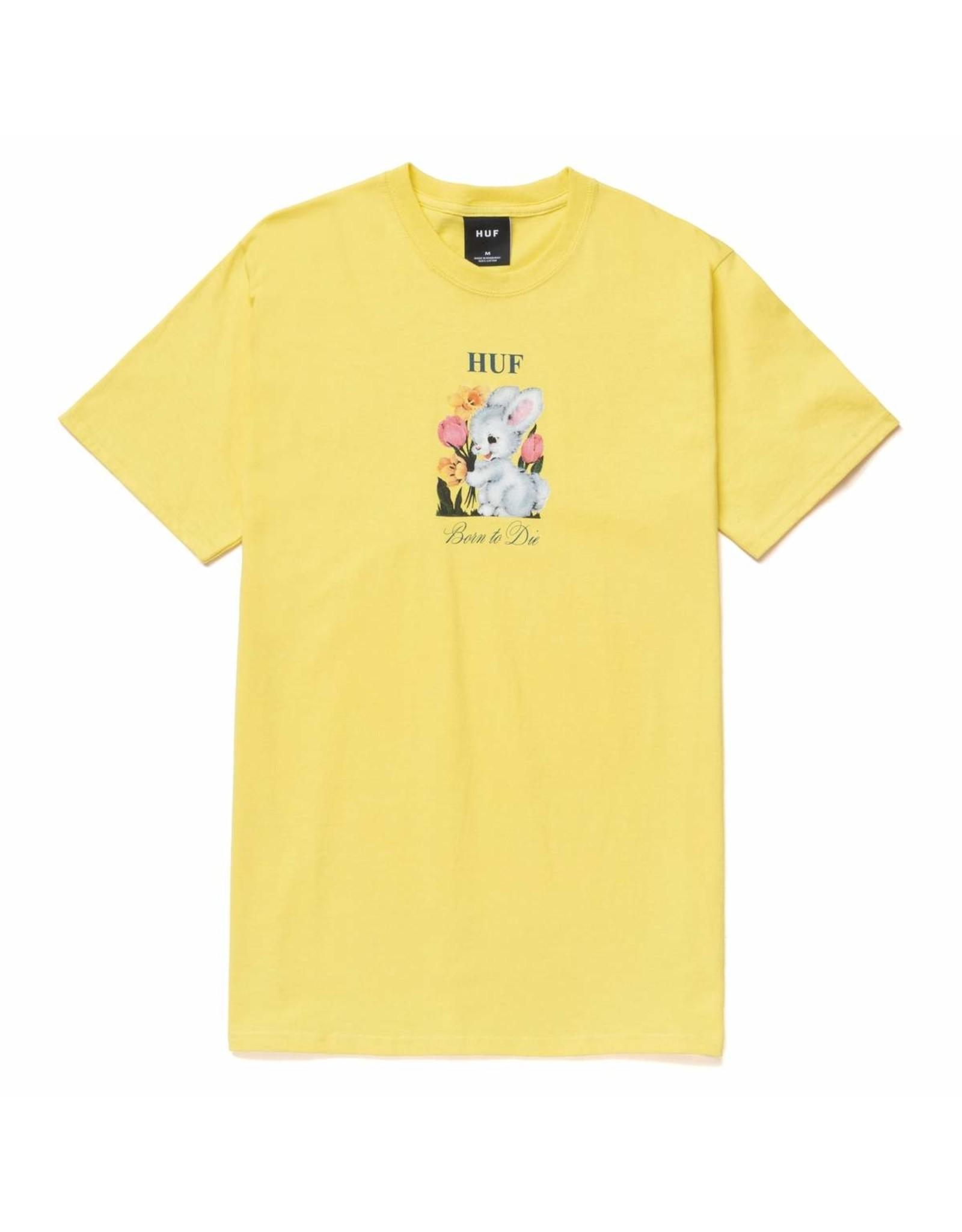 HUF HUF - BORN TO DIE S/S - YELLOW