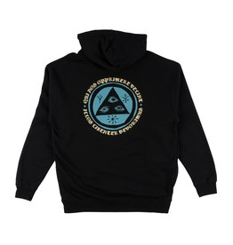 WELCOME WELCOME - TALISMAN HOODIE - BLK/TEAL -