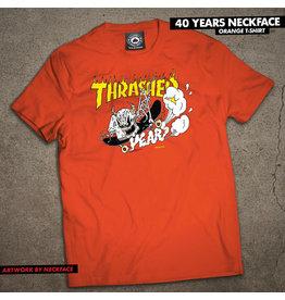 THRASHER THRASHER - 40 YEARS NECKFACE S/S - ORNG -