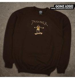 THRASHER THRASHER - GONZ LOGO CREW - CHOC. -
