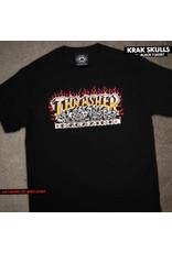 THRASHER THRASHER - KRAK SKULLS S/S - BLACK -
