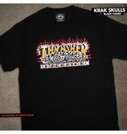 THRASHER THRASHER - KRAK SKULLS S/S - BLK -
