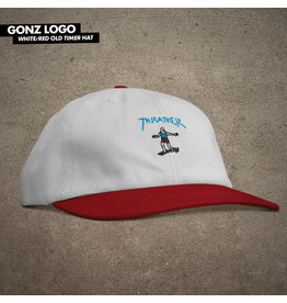 THRASHER THRASHER - GONZ OLD TIMER HAT - WHT/RED