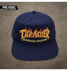 THRASHER THRASHER - FIRE LOGO SNAPBACK - NVY