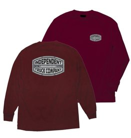 INDEPENDENT INDEPENDENT - ITC CURB L/S BURGUNDY