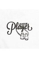ALLTIMERS SKATEBOARD DECKS ALLTIMERS - LEAGUE PLAYER TEE - WHITE-