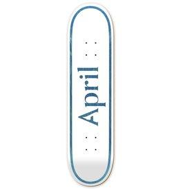 APRIL SKATEBOARD DECKS APRIL - LOGO BLUE 8