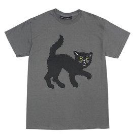 917 SKATEBOARD DECKS 917 - BLACK CAT TEE CHARCOAL