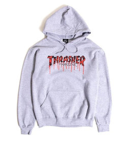 THRASHER THRASHER - BLOOD DRIP HOODIE - ASH