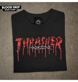 THRASHER THRASHER - BLOOD DRIP TEE - BLACK