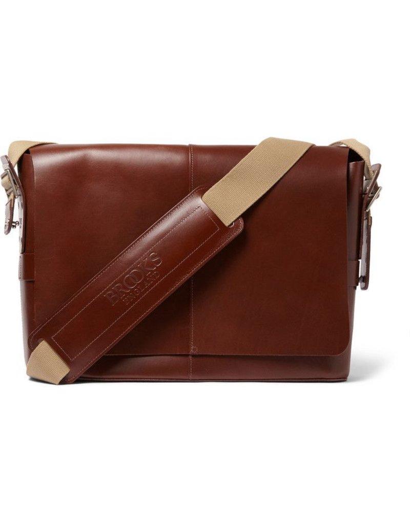 Brooks Brooks Leather Messenger Bag Barbican - Brown