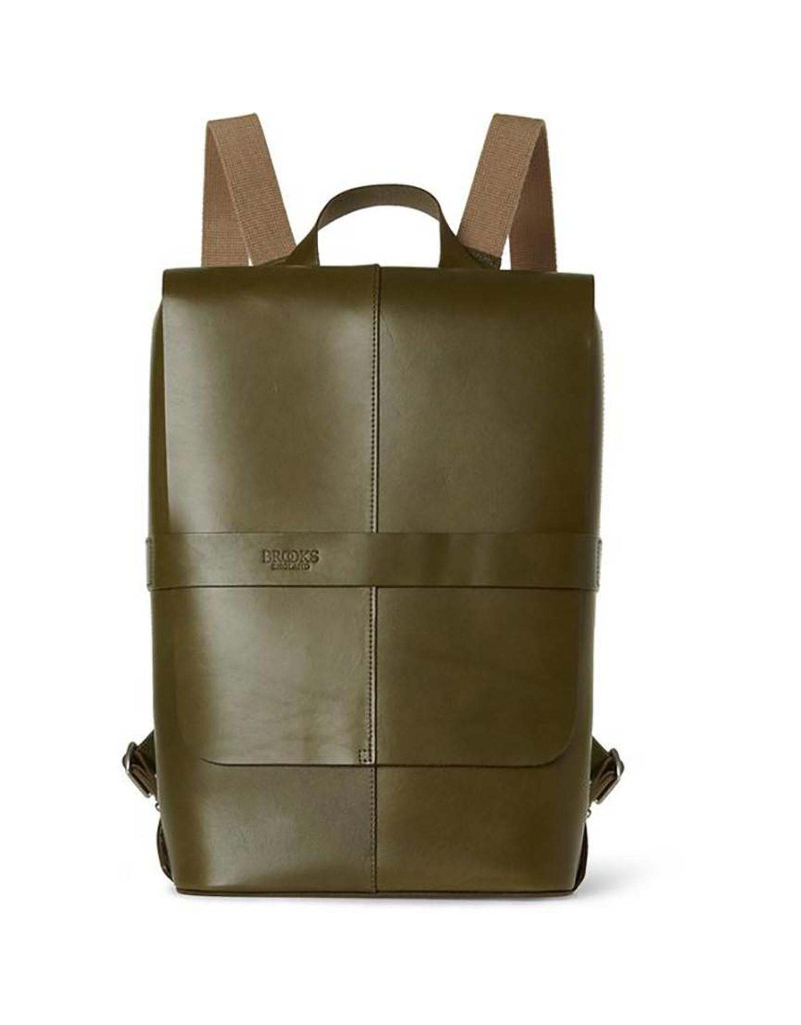 Brooks Brooks Piccadilly Leather Knapsack Olive Green