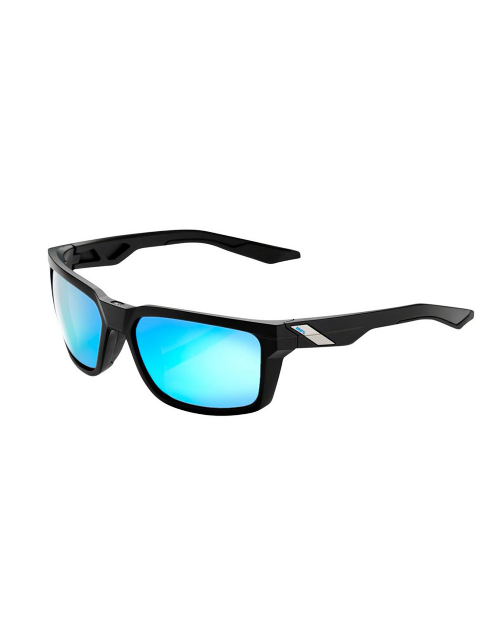 100% 100% Hudson Matte Black Hiper Blue Multi Mirror Lens