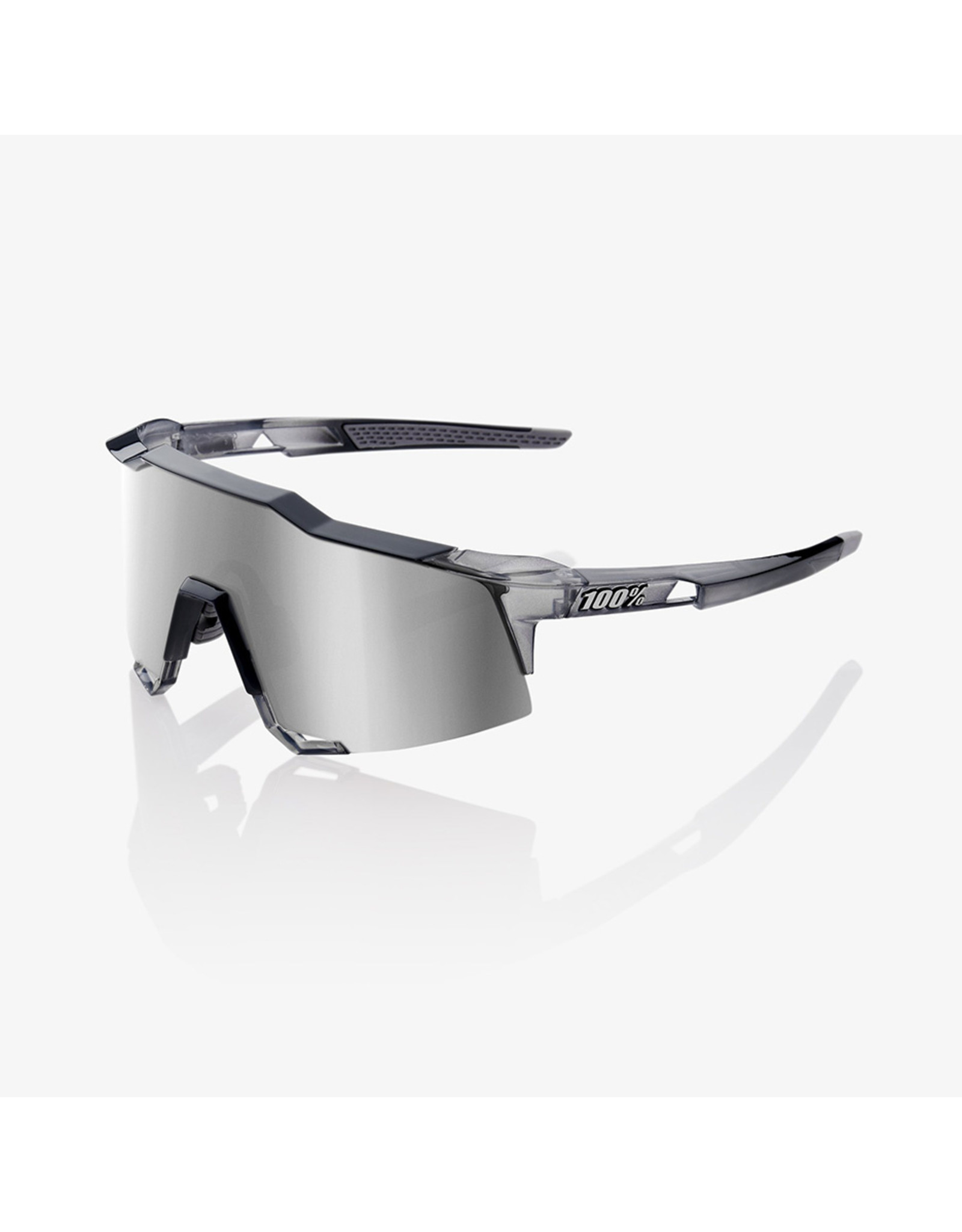 100% 100% Speedcraft Polished Translucent Crystal Grey Hiper Silver Lens