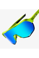 100% 100% S2 Matte Fluorescent Yellow Green Multi Mirror Lens