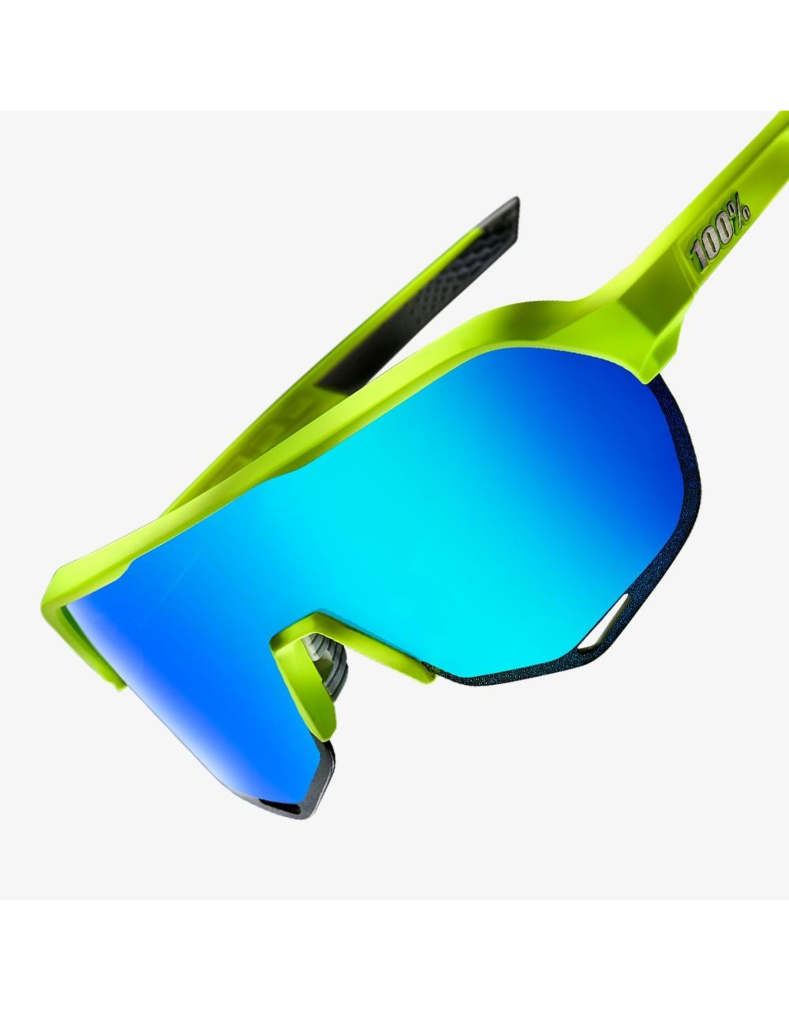 100% 100% S2 Matte Fluorescent Yellow Green Multi Mirror Lens