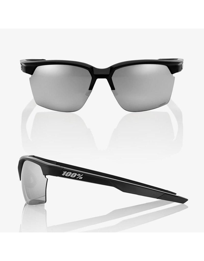 100% 100% Sportcoupe Matte Black Hiper Silver Multi Mirror Lens