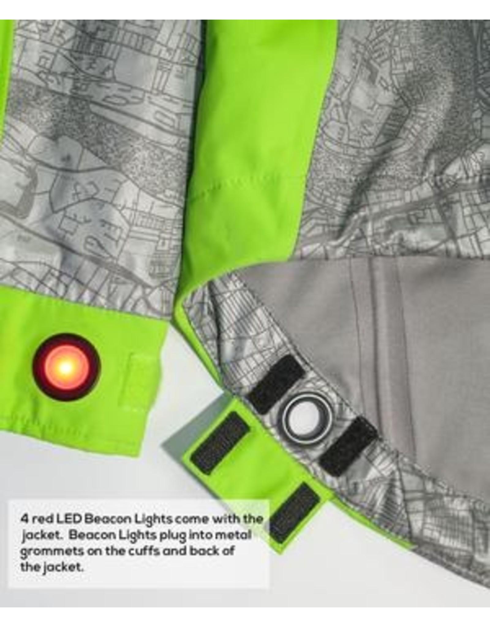 Showers Pass Men's Hi-vis Torch Jacket w/Beacon Lights