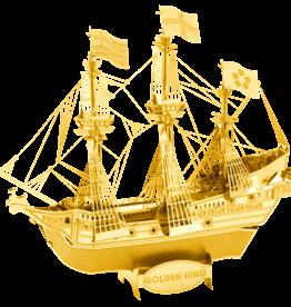 GOLD Golden Hind ship