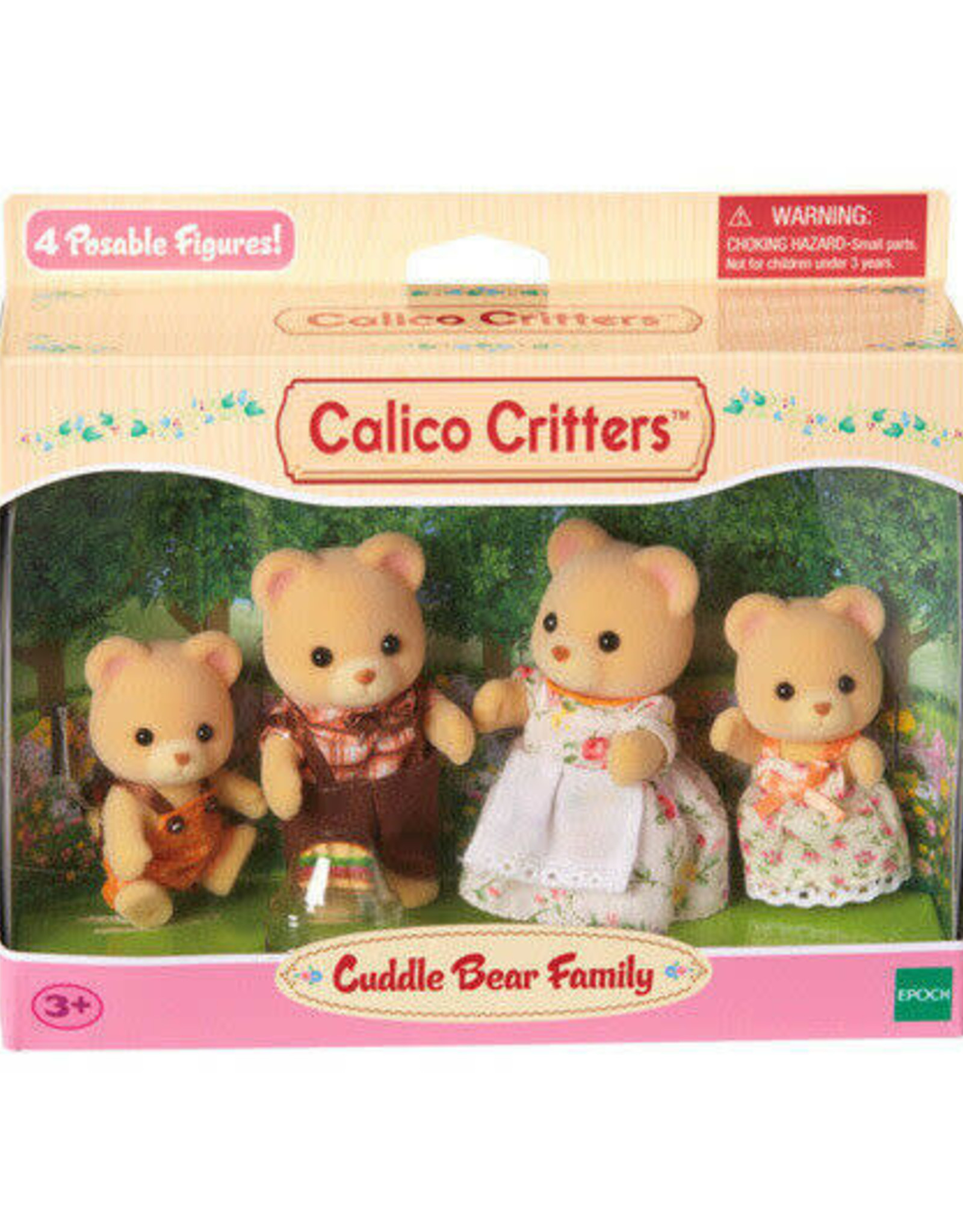 Epoch International Calico Critter Cuddle Bear Family