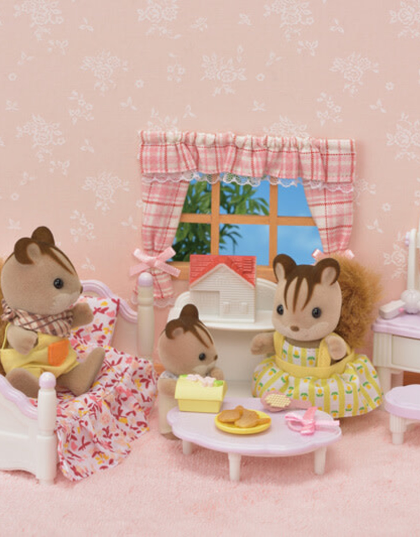 Calico Critters Bedroom and Vanity