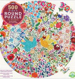 Blue Bird Yellow Bird 500pc Round Puzzle