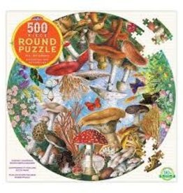Mushrooms and Butterflies 500Pc Round Pu