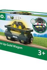 Brio Trains Light Up Gold Wagon