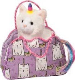 Douglas Toys Purple Caticorn Bag w/Caticorn Plush