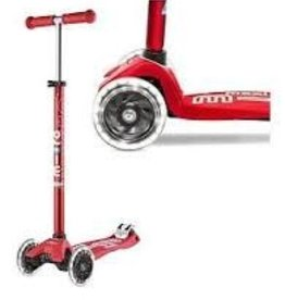 Maxi Deluxe Scooter w/LED wheels - Red
