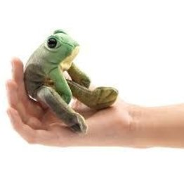 MINI SITTING FROG FINGER PUPPET