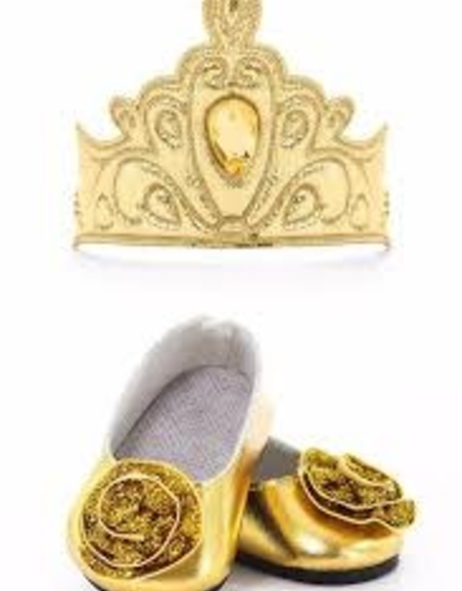 Doll Shoes with tiara gold