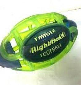 Tangle NightBall Football - Small (Green body/Gray tips)