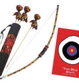 Python Bow, 3 Arrows- Black, Black Quiver Bag and Small Bullseye