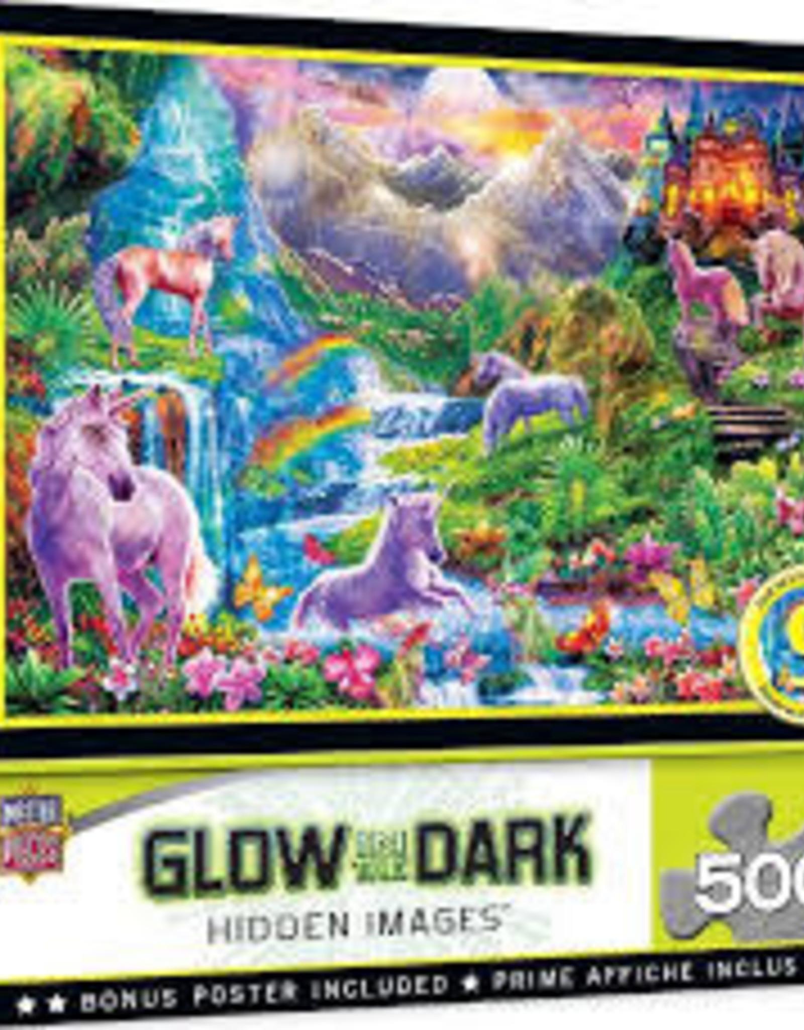 Hidden Images Glow In The Dark - Unicorns Retreat 500pc Puzzle