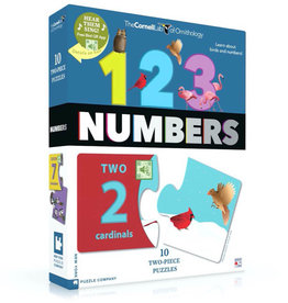 BIRD TWO PIECE NUMBERS PUZZLE