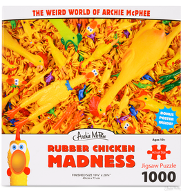 Accoutrements Rubber Chicken Puzzle