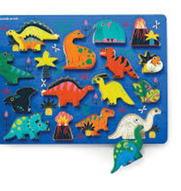 WOOD PUZZLE & PLAYSET DIONSAURS  16 PC.