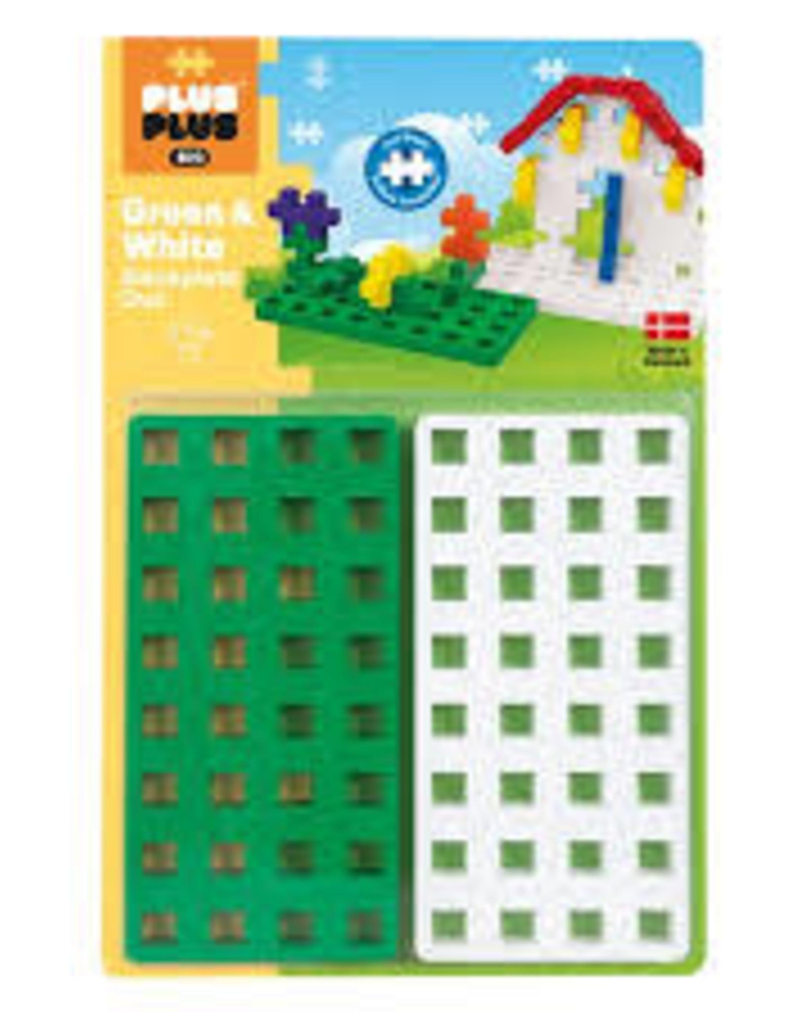 Plus-Plus Big Baseplate ++ Green/White