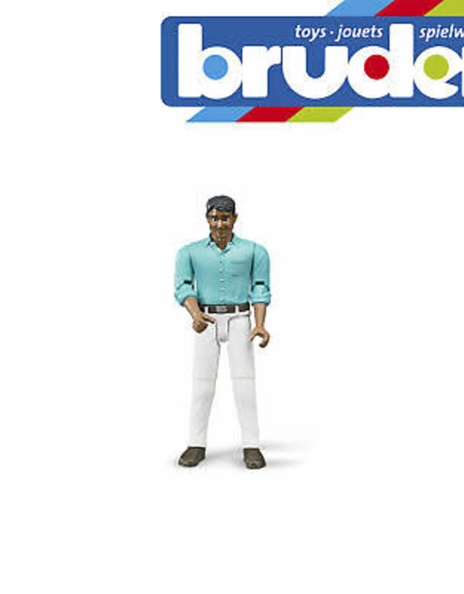 Man, medium skin, white jeans