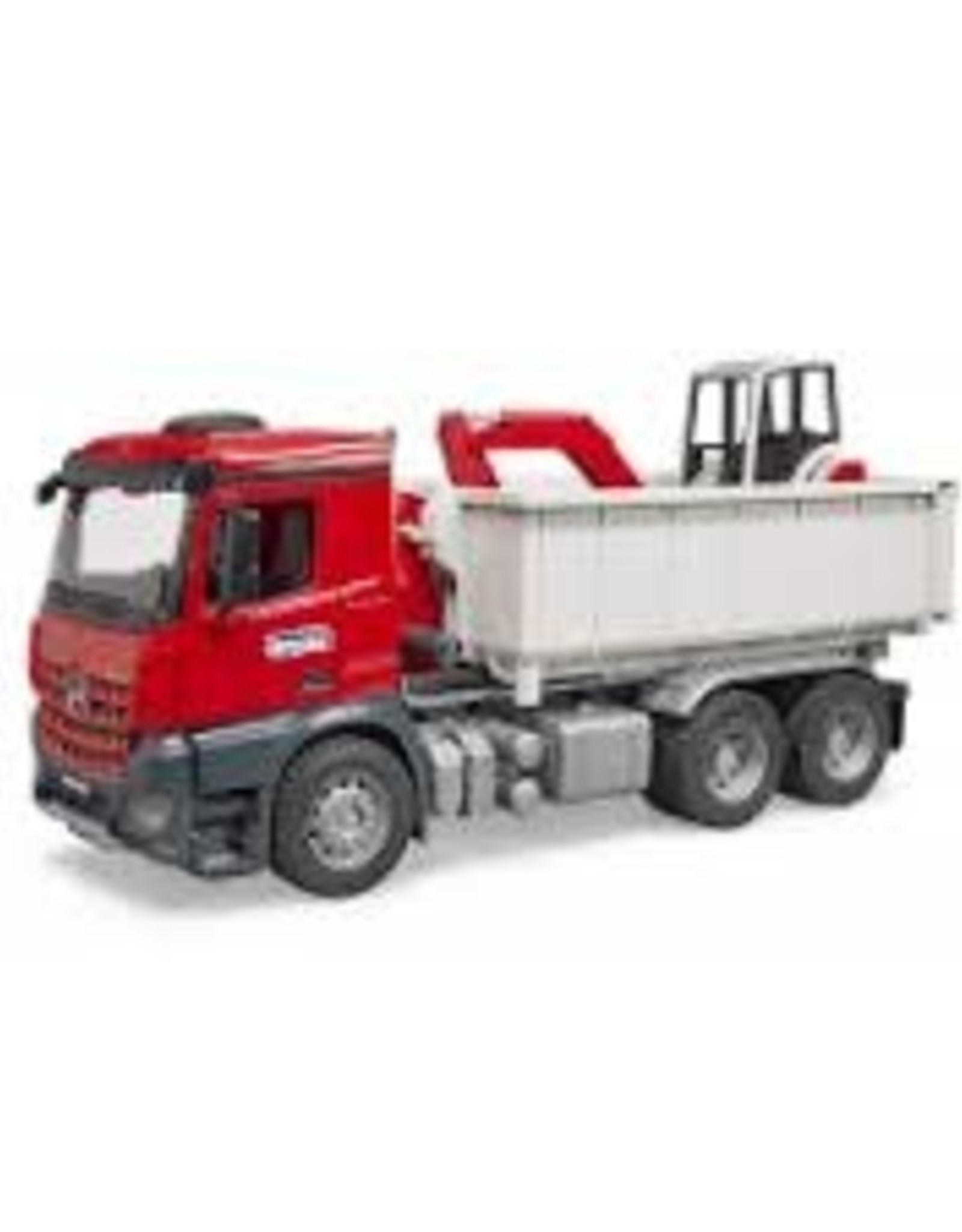 MB Arocs Truck with Roll-Off-Container w Mini excavator
