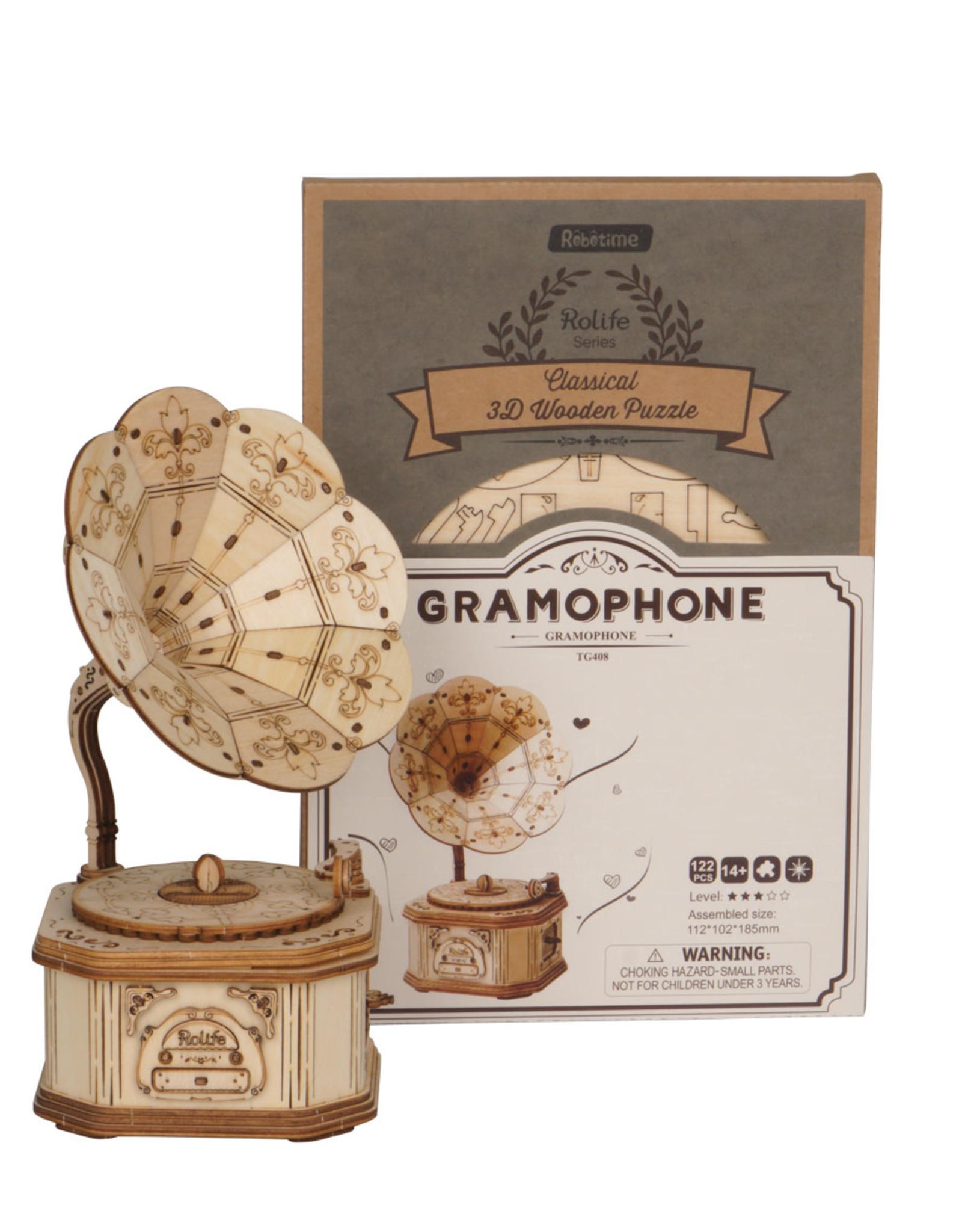 ROBOTIME Gramophone - 3D Puzzle