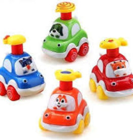 Manhattan Toys Silly Racers Assortment push top down