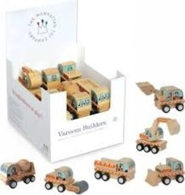 Varoom Builders wooden pullback construction cars