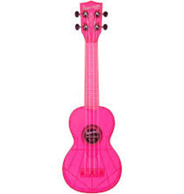 Kala Waterman Fluorescent Pink Soprano Ukulele
