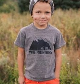 HE WILL MOVE MOUNTAINS TEE SIZE 4T