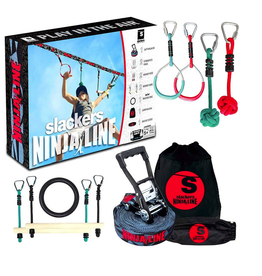 Slackers Slacker Ninjaline 36' Intro Kit w/ 7 hanging obstacles