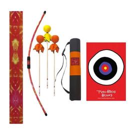 Orange Tie Dye Bow, 3 Arrows- 2 Orange and 1 Yellow, Orange Quiver Bag and Small Bullseye