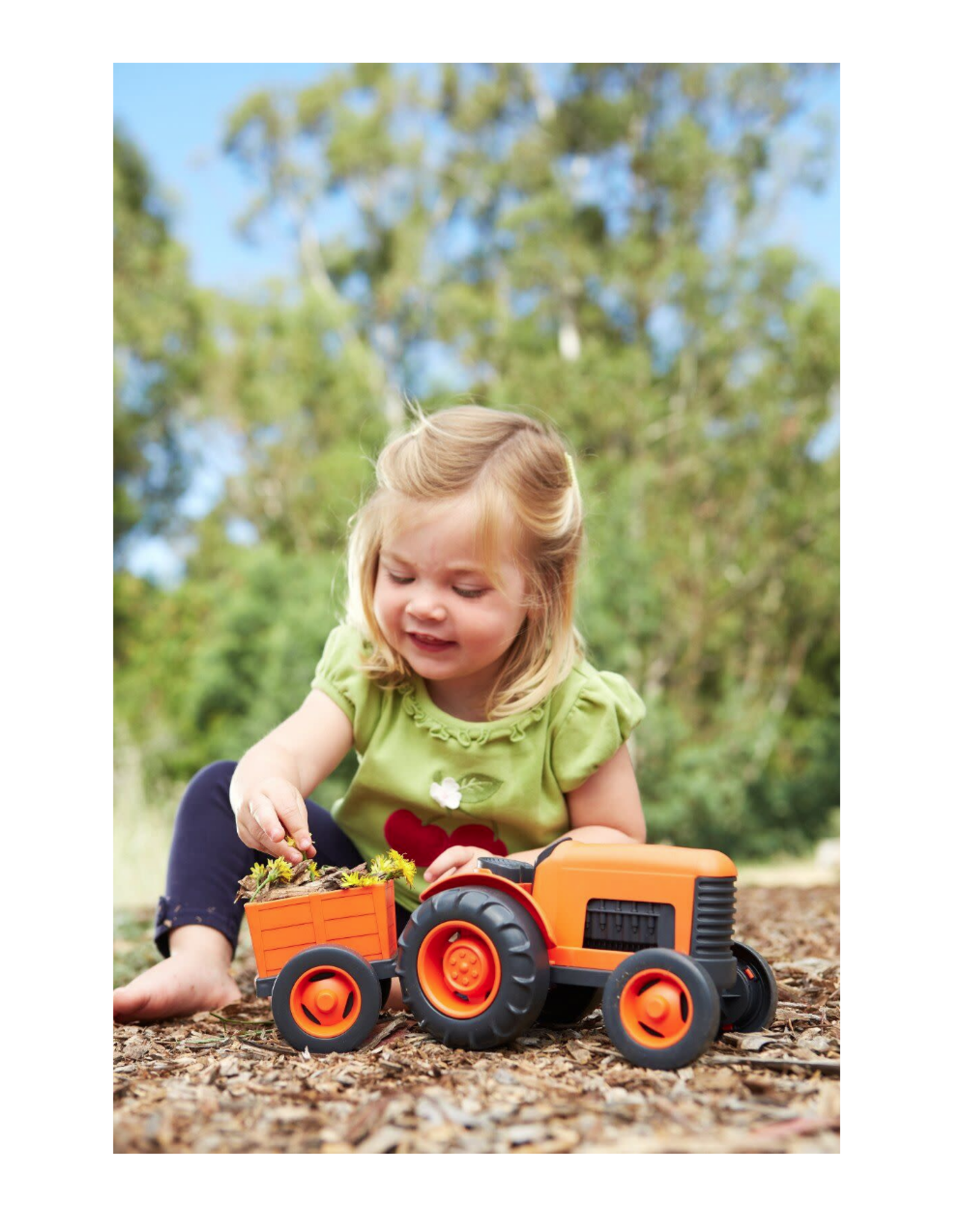 Green Toys Tractor- orange